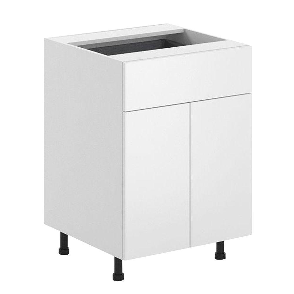 Ready to Assemble 24x34.5x24.5 in. Alexandria Base Cabinet in White Melamine