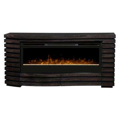 Elliot 70 in. Freestanding Electric Fireplace in Hawthorn Brown