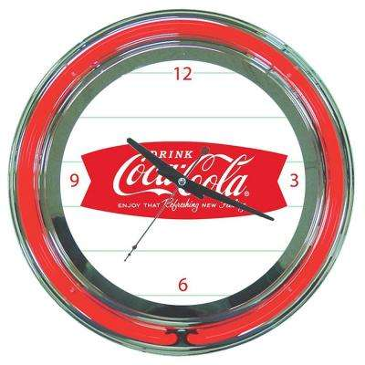 14 in. Coca-Cola Refreshing Feeling Neon Wall Clock