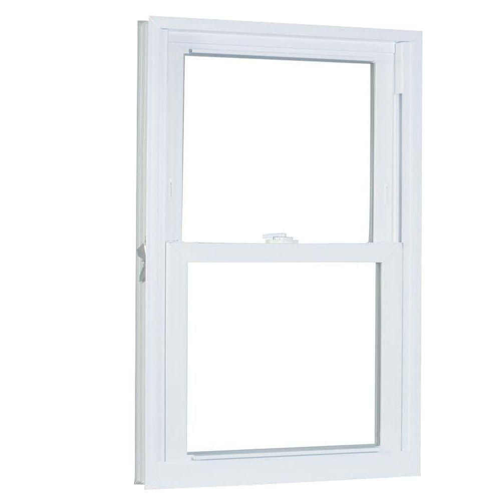 American Craftsman 23.75 in. x 53.25 in. 70 Series Pro Double Hung White Vinyl Window with Buck Frame