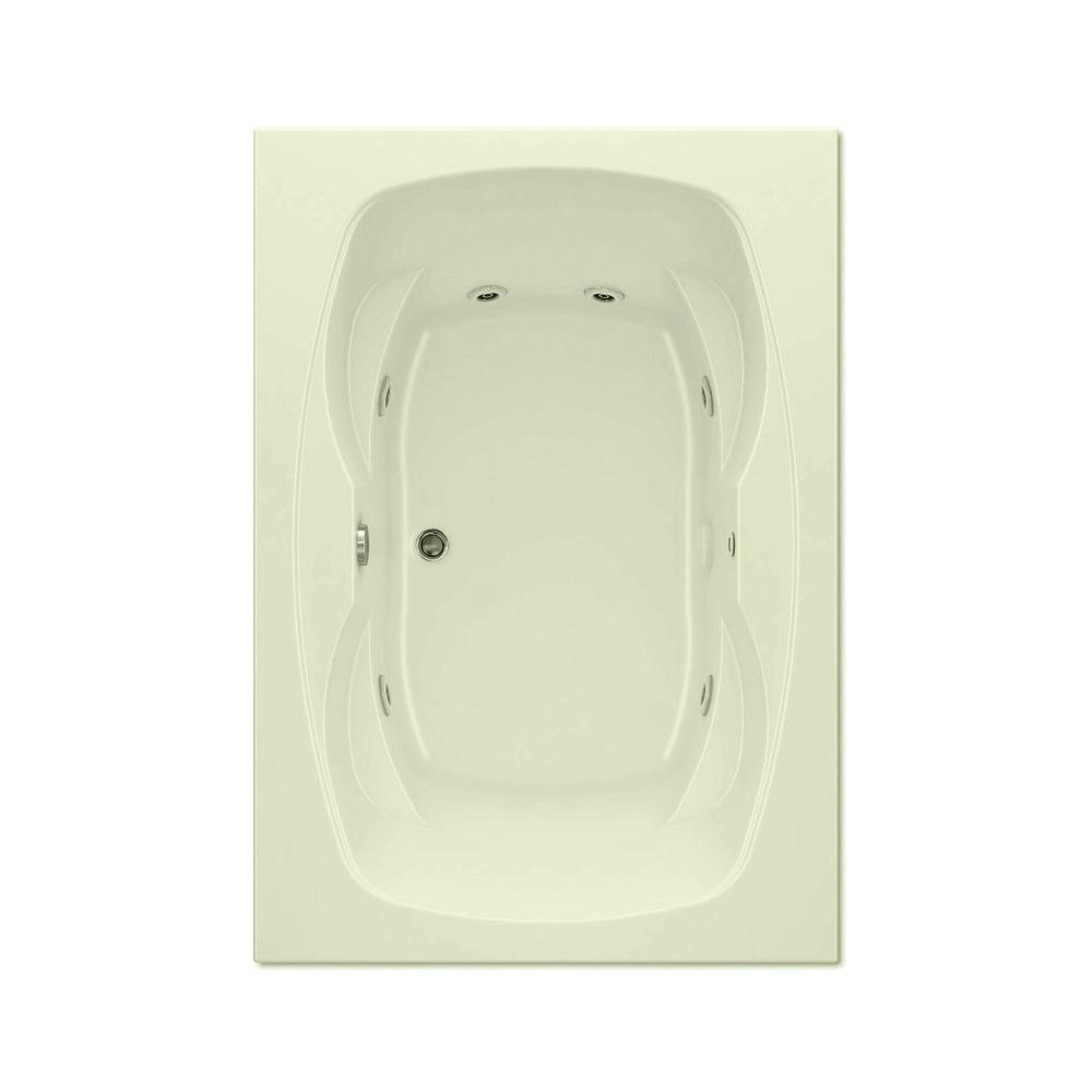 Hialeah I 5 ft. Center Drain Acrylic Whirlpool Bath Tub with