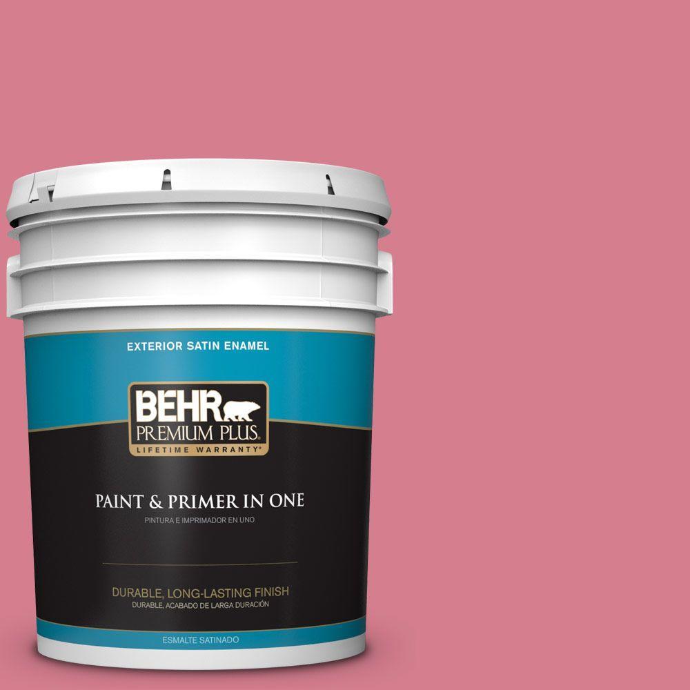 BEHR Premium Plus 5-gal. #P140-4 I Pink I Can Satin Enamel Exterior Paint