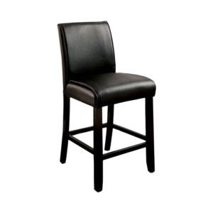 sale retailer 3a968 45b6f 39.75 in. Grandstone II Contemporary Counter Height with Black Bar Stool  (Set of 2)