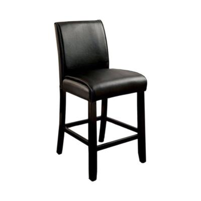 39.75 in. Grandstone II Contemporary Counter Height with Black Bar Stool (Set of 2)