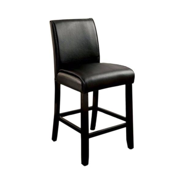 Benzara 39.75 in. Grandstone II Contemporary Counter Height with Black Bar Stool (Set of 2)
