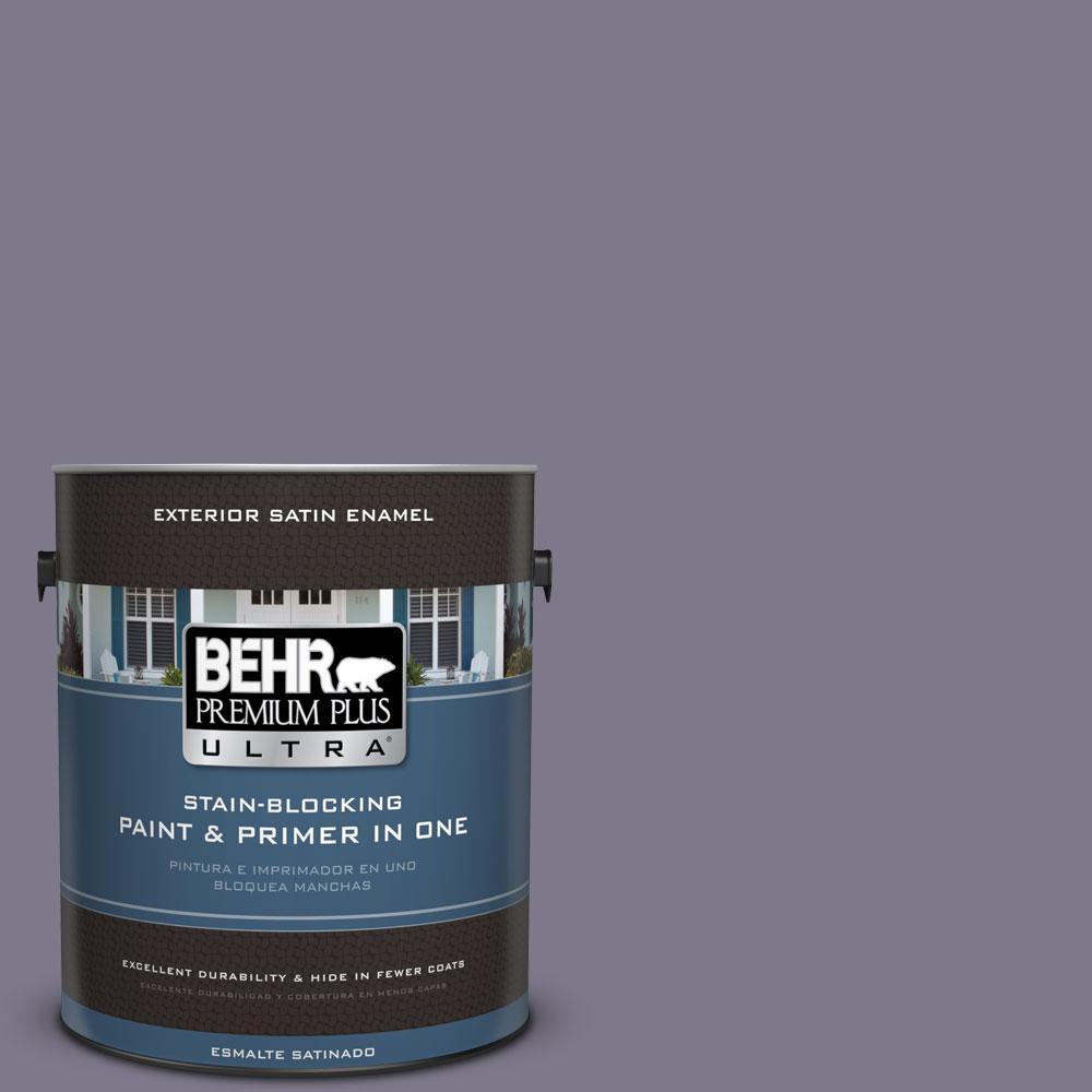 BEHR Premium Plus Ultra 1-gal. #N560-5 Solitaire Satin Enamel Exterior Paint