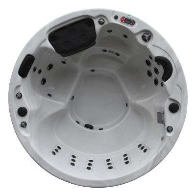 Ottawa 6-Person 38-Jet Acrylic Hot Tub with Pop-Up LED Speakers, Waterfall, Aromatherapy and Ozone Filtration
