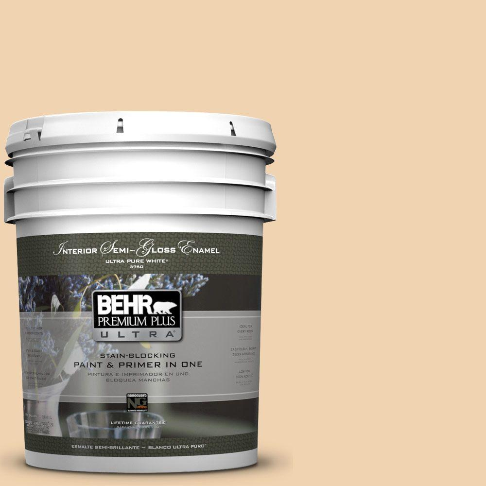 BEHR Premium Plus Ultra 5-gal. #M280-3 Champagne Wishes Semi-Gloss Enamel Interior Paint