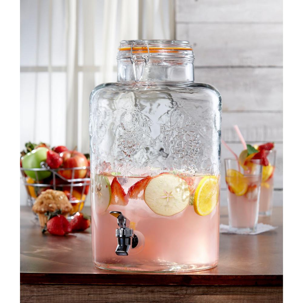 ef429fadb9b Style Setter Vineyard Fruit Beverage Dispenser-210261-gb - The Home ...