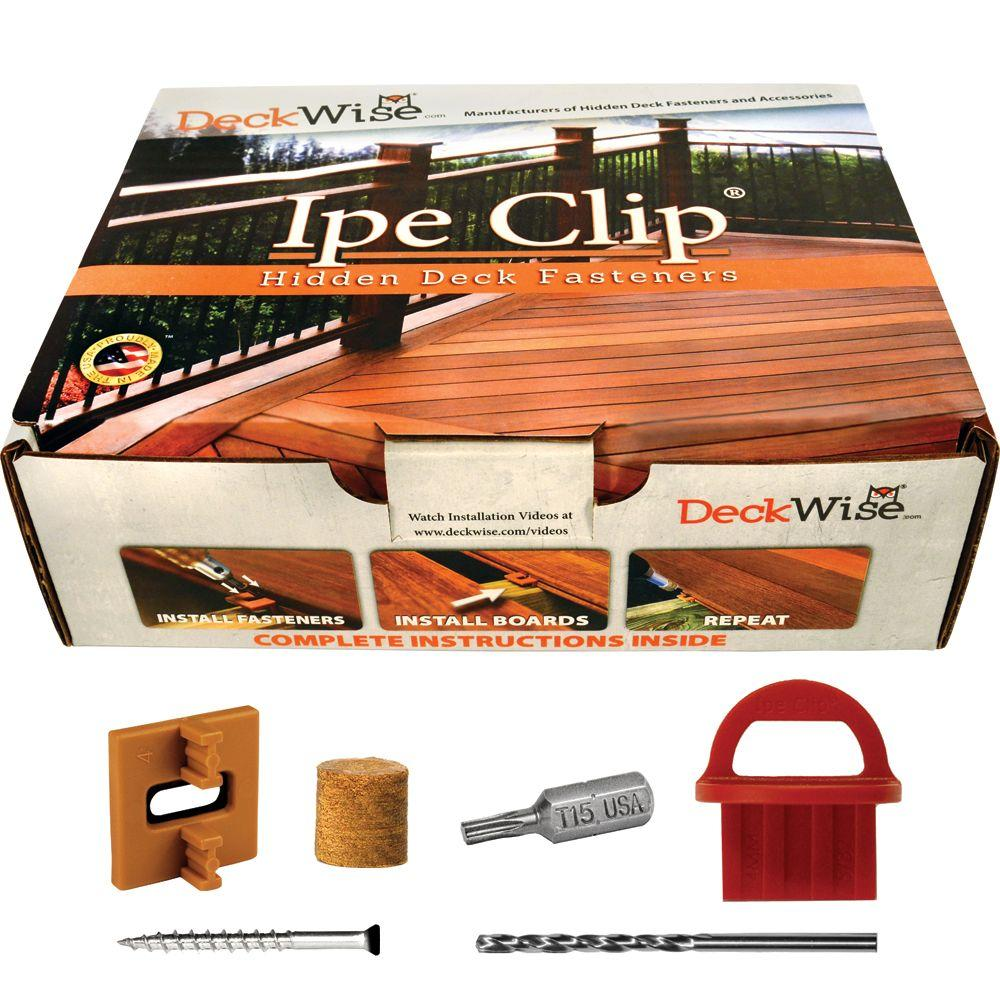 Extreme4 Ipe Clip Brown Biscuit Style Hidden Deck Fastener Kit for