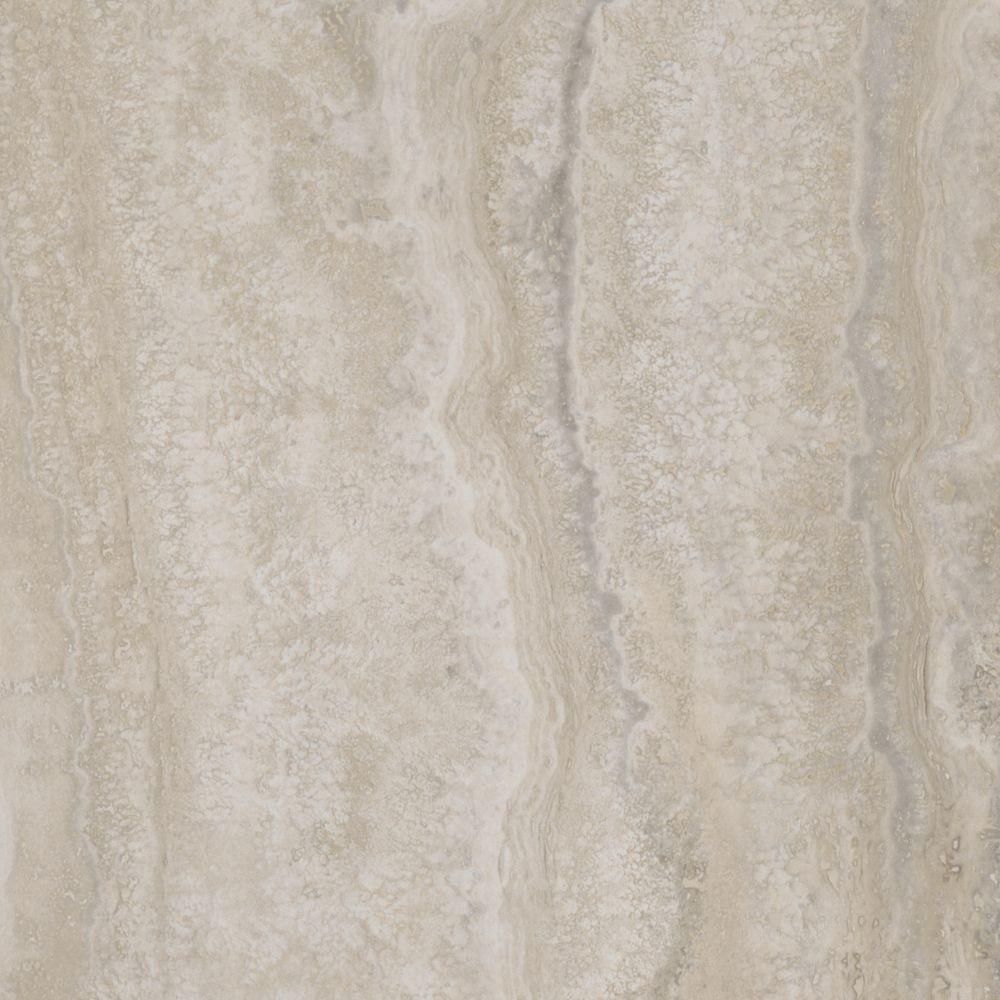 Excellent TrafficMASTER Allure 12 in. x 24 in. Grey Travertine Luxury Vinyl  XL36