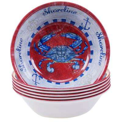 Maritime Crab Ice Cream and Cereal Bowl (Set of 6)