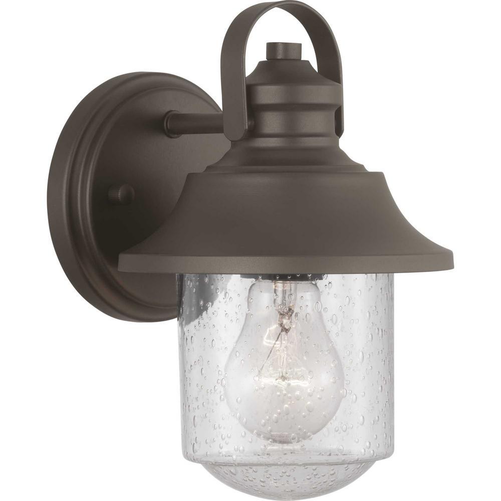Weldon Collection 1-Light Bronze Outdoor Wall Lantern Sconce