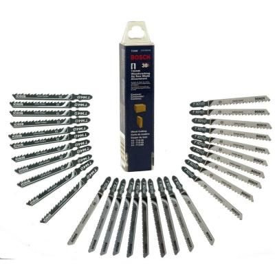 T-Shank Jig Saw Blade Set for Cutting Wood and Plastic (30-Piece)