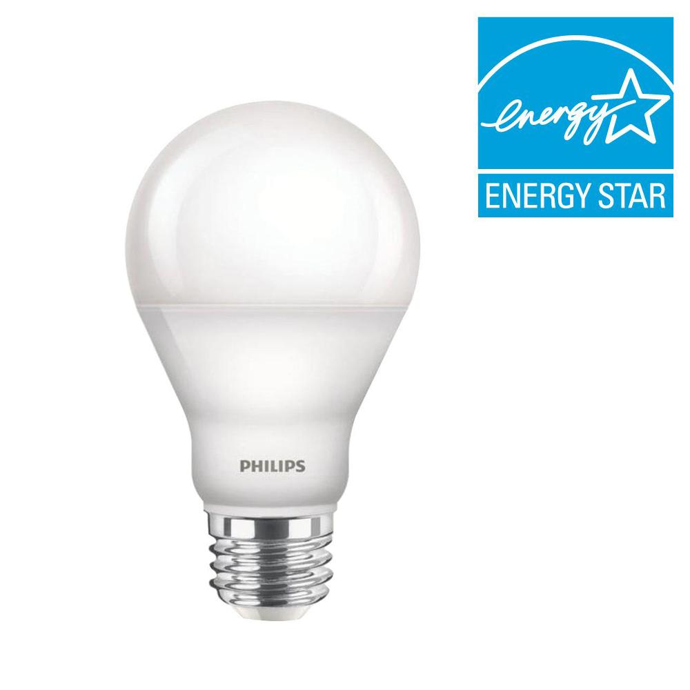 Philips 60W Equivalent Daylight (5000K) A19 Dimmable LED Light Bulb (6-Pack)