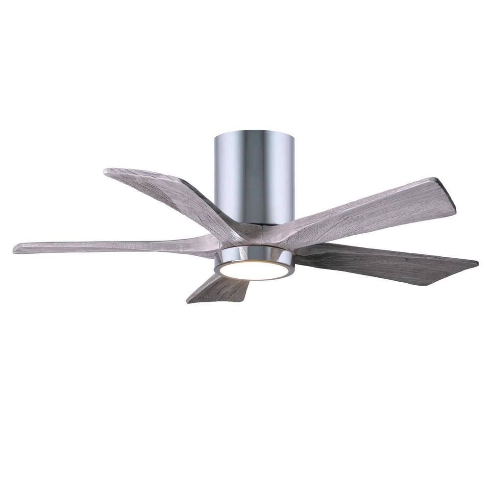 Led Indoor Outdoor Damp Polished Chrome Ceiling Fan With Light