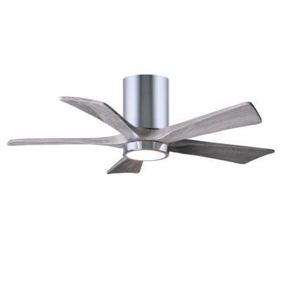 Irene 42 in. LED Indoor/Outdoor Damp Polished Chrome Ceiling Fan with Light with Remote Control and Wall Control