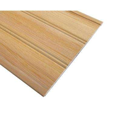 1/4 in. x 7-1/4 in. x 96 in. Vinyl Reversible Pre-Finished Imperial Oak Panel (7-Pack)