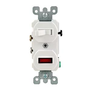 [SCHEMATICS_48EU]  Leviton 1/25W-125V Combination Switch with Neon Pilot Light,  White-R52-05226-0WS - The Home Depot | Leviton Light Switch With Pilot Wiring Diagram |  | The Home Depot