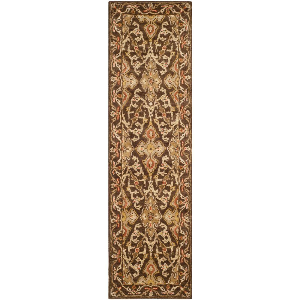safavieh classic brown 2 ft 3 in x 8 ft rug runner cl931a 28 the home depot. Black Bedroom Furniture Sets. Home Design Ideas