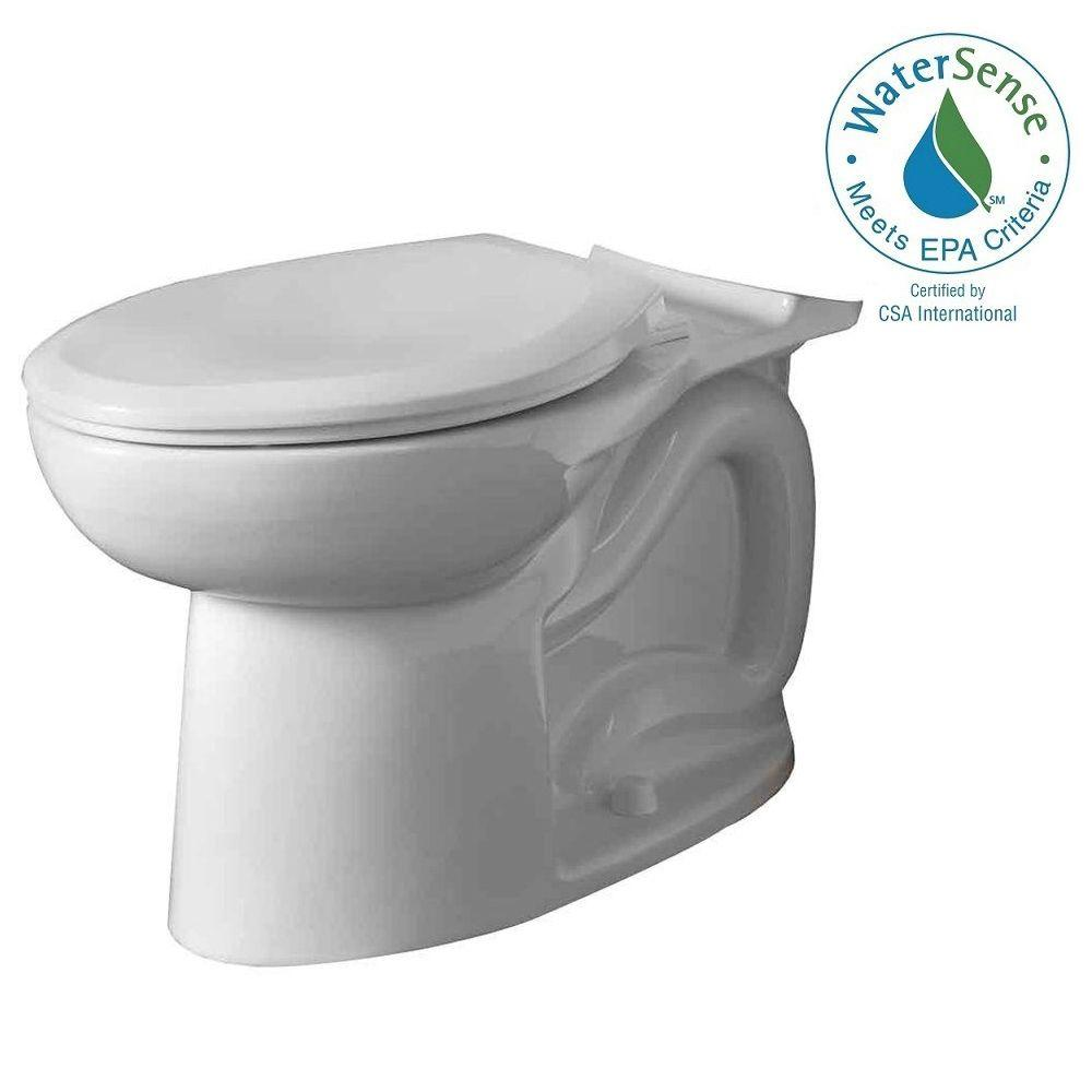 American Standard Cadet 3 FloWise Tall Height Elongated Toilet Bowl ...