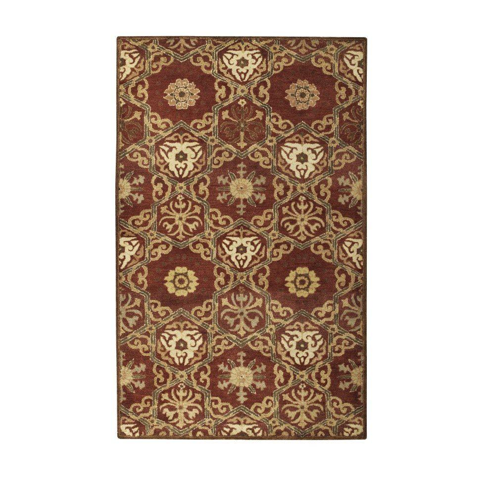 Home Decorators Collection Harrison Red Gold 2 ft. x 3 ft. Area Rug