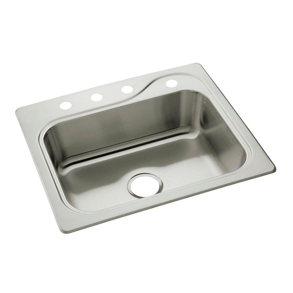 stainless steel drop in kitchen sinks sterling southhaven drop in stainless steel 22 in 4 9392