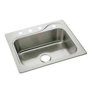 Sterling Southhaven Drop-in Stainless Steel 22 inch 4-Hole Single Bowl Kitchen Sink by STERLING