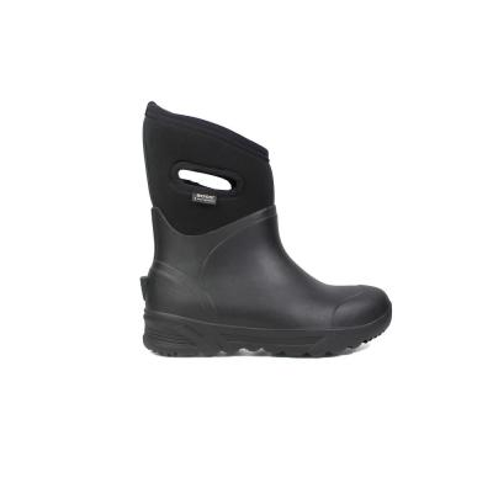 Bozeman Mid Men 11 in. Size 14 Black Rubber with Neoprene Waterproof Boot