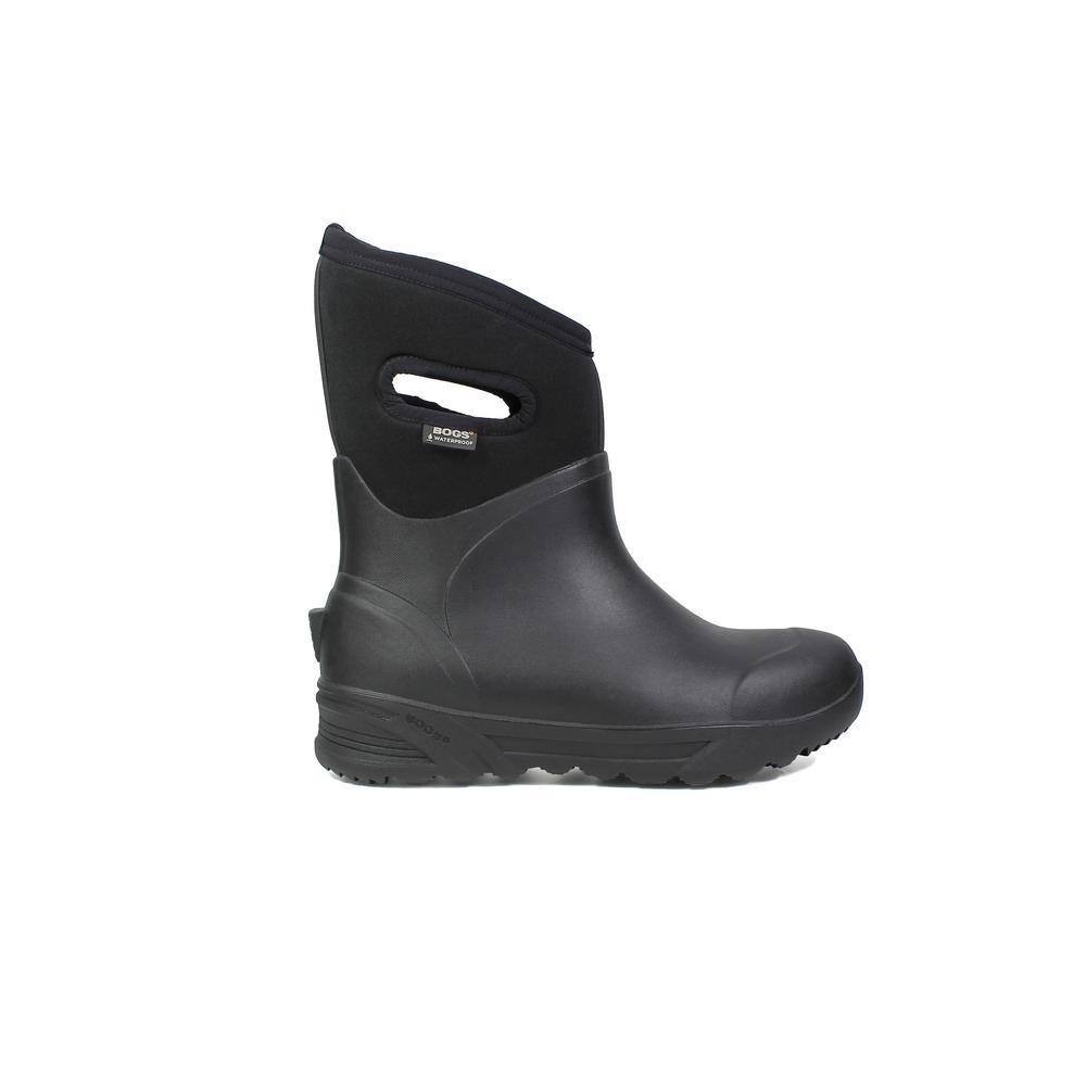 Bozeman Mid Men 11 in. Size 9 Black Rubber with Neoprene Waterproof Boot