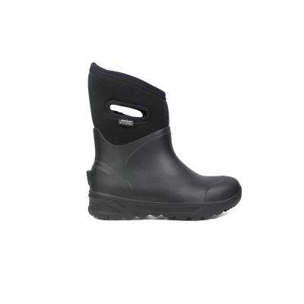 Bozeman Mid Men 11 in. Size 10 Black Rubber with Neoprene Waterproof Boot