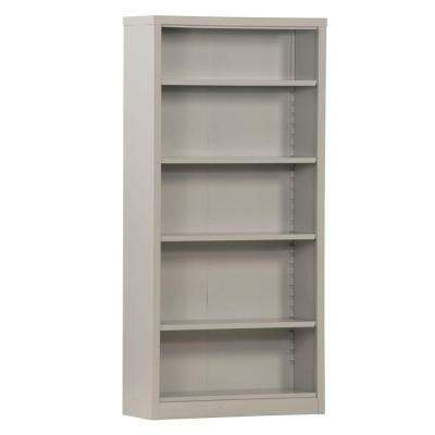Dove Grey Steel Bookcase