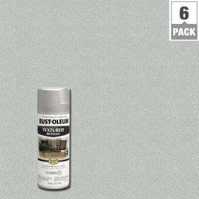 12 oz. Textured Metallic Silver Protective Spray Paint (6-Pack)