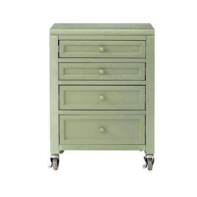 Craft Space 21 in. W Rhododendron Leaf 4-Drawer Cart