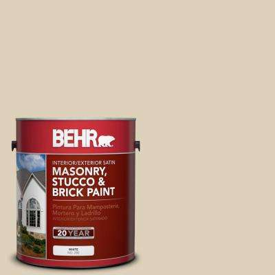 1 gal. #PPU4-12 Natural Almond Satin Interior/Exterior Masonry, Stucco and Brick Paint