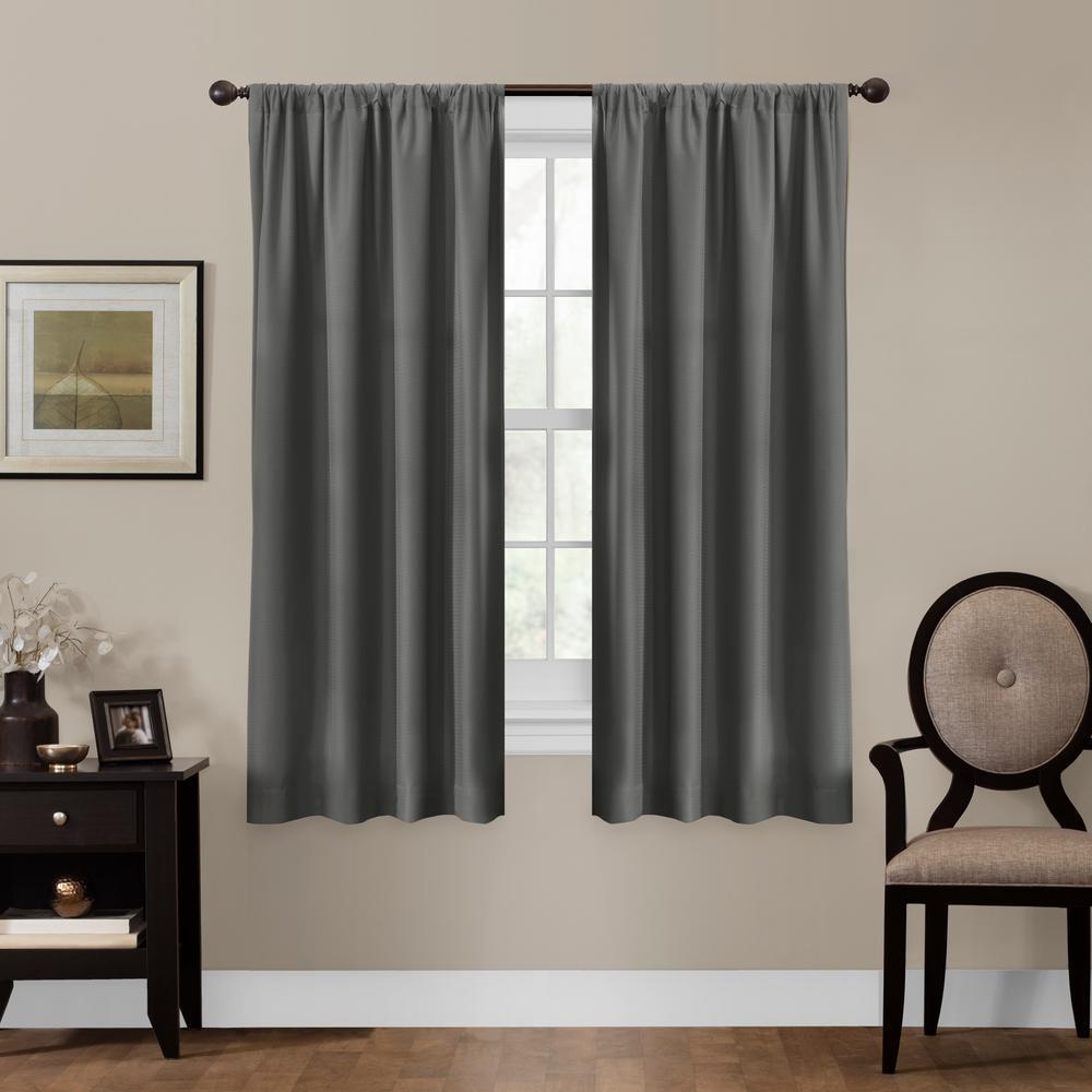 Julius 50 in. x 63 in. 100% Blackout Smart Curtain Window Curtain Panel