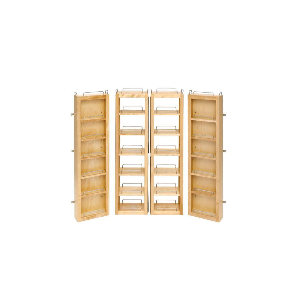 Rev-A-Shelf 45 in. H x 12 in. W x 7.5 in. D Wood Swing-Out Cabinet Pantry Kit
