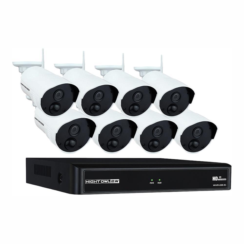 Night Owl Wireless 8 Channel Nvr 8 Ac Powered 1080p 1tb