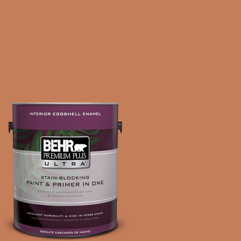 BEHR Premium Plus Ultra 1-gal. #M210-6 Orange Liqueur Eggshell Enamel Interior Paint