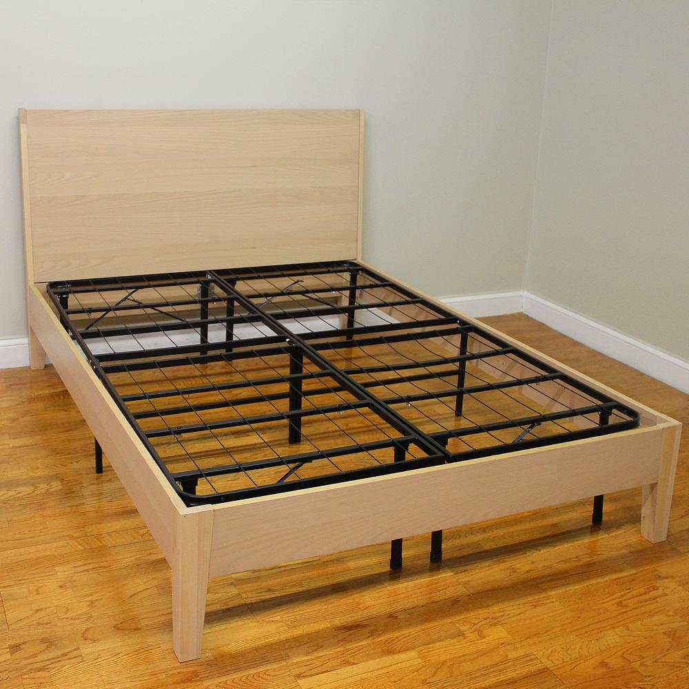 hercules twin size 14 in h heavy duty metal platform bed frame 125001 5010 the home depot. Black Bedroom Furniture Sets. Home Design Ideas