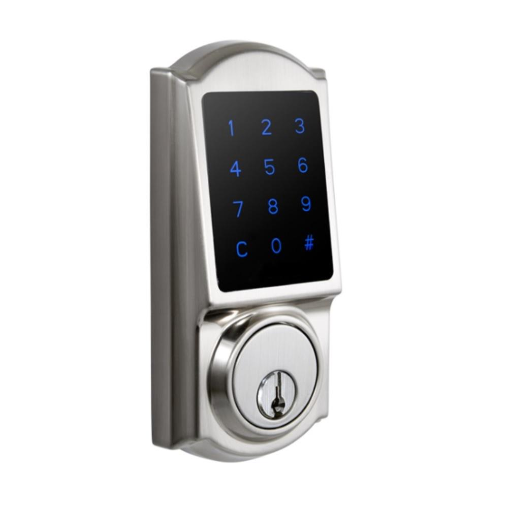 Castle Satin Nickel Touchscreen Single Cylinder Electronic Deadbolt