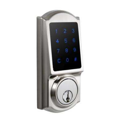 Castle Satin Nickel Single Cylinder Electronic Touchscreen Deadbolt