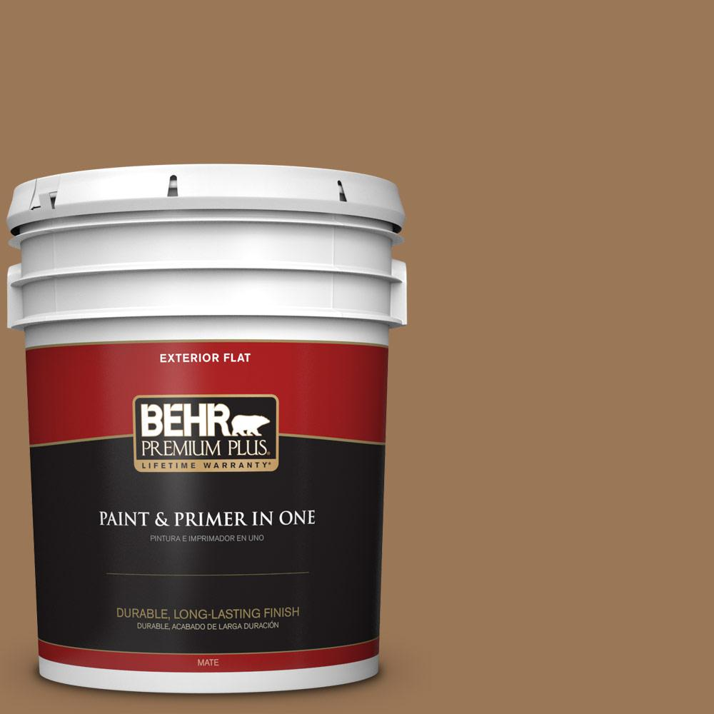 5 gal. #PPU4-02 Coco Rum Flat Exterior Paint