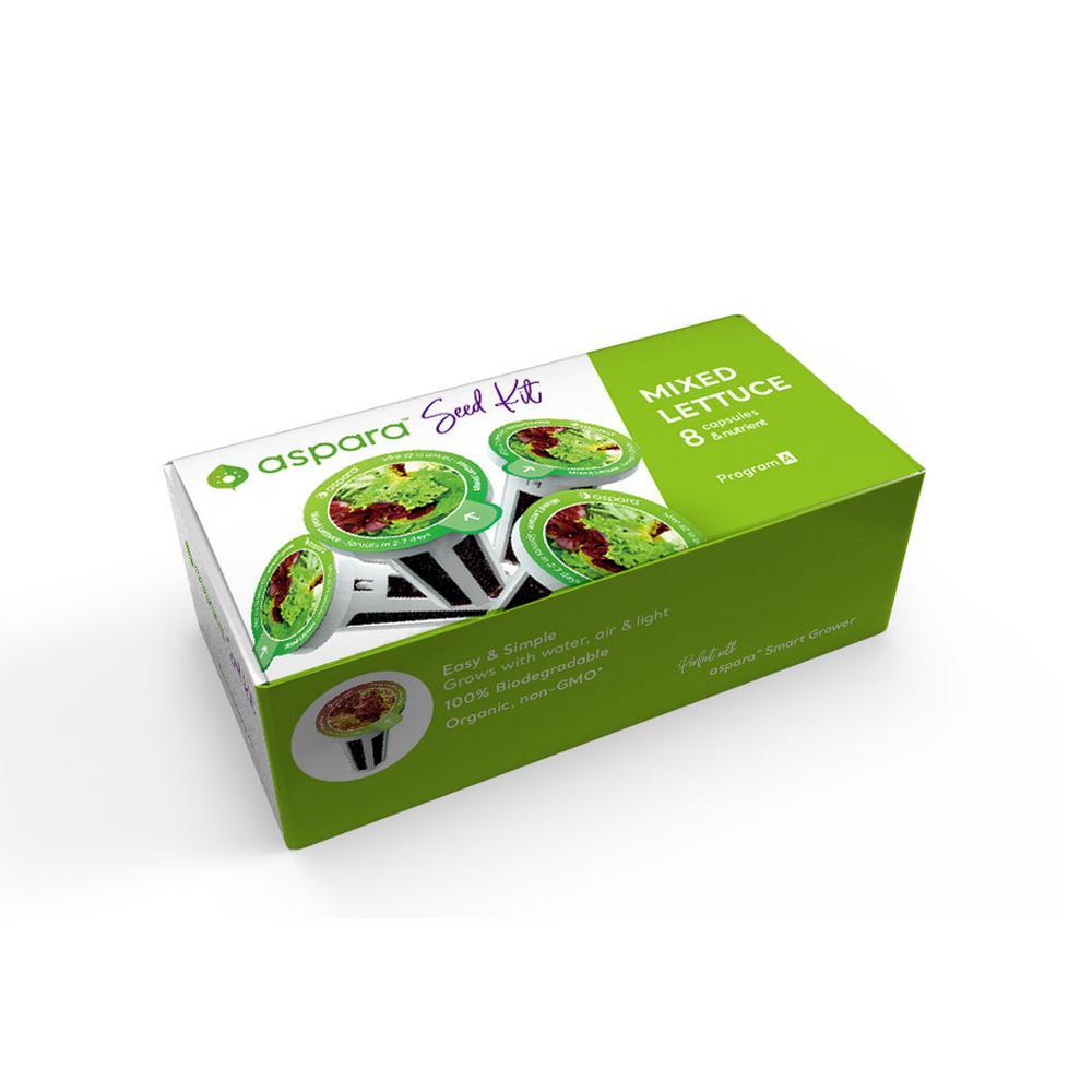 Organic Mixed Lettuce 8-Capsule Vegetable Seed Kit