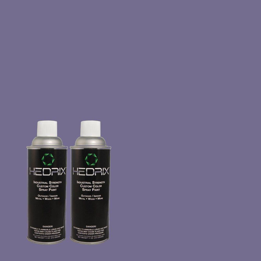 Hedrix 11 oz. Match of 1B35-6 Empress Blue Flat Custom Spray Paint (2-Pack)