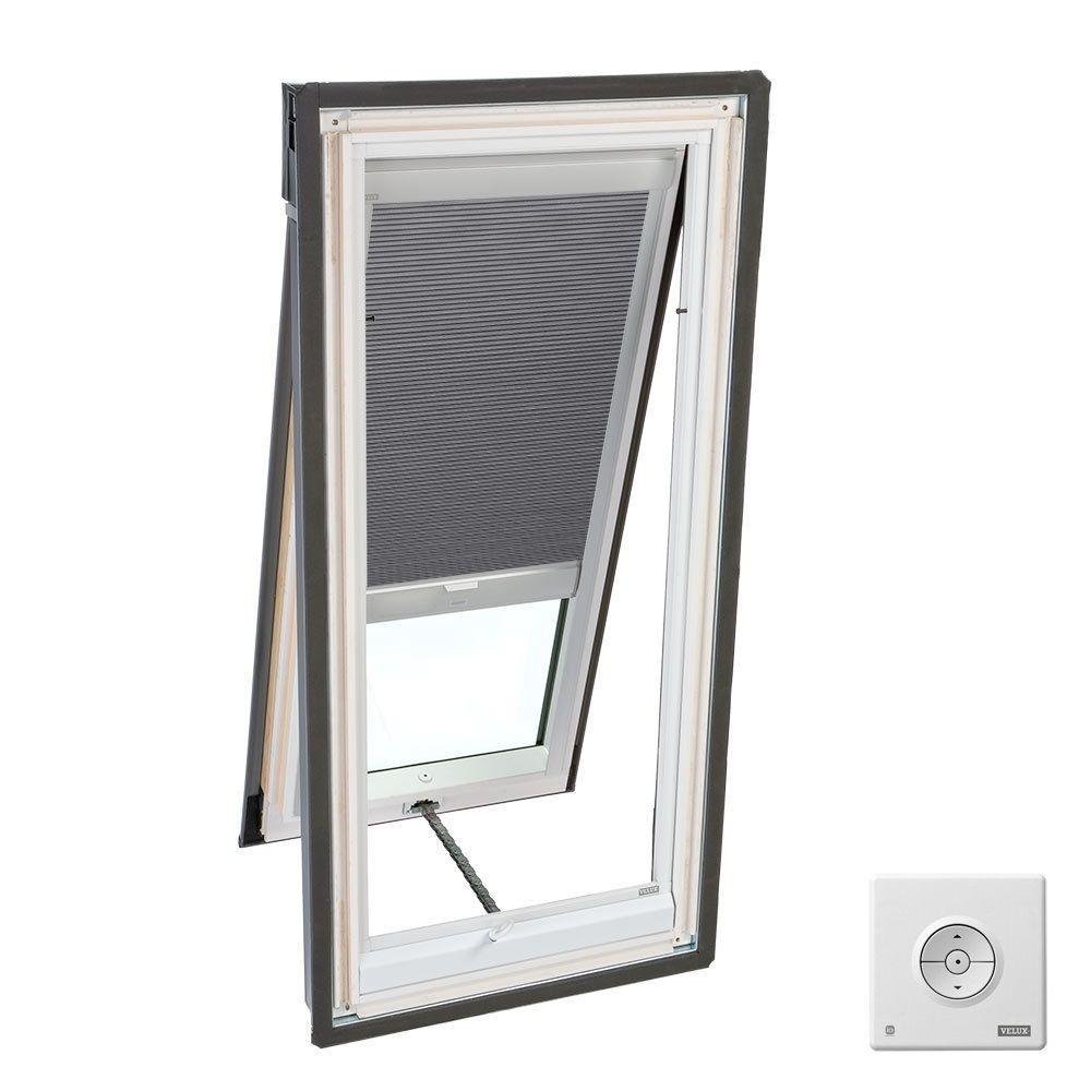 Velux Solar Powered Room Darkening Grey Skylight Blinds