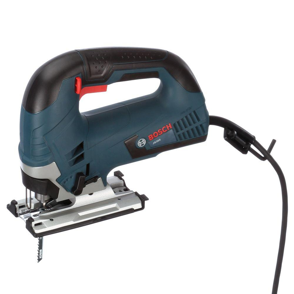 Bosch 6 5 Amp Corded Variable Speed Top Handle Jig Saw Kit With Carrying Case Js365 The Home Depot