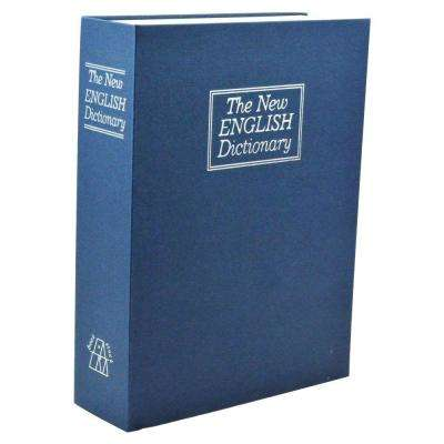 Large New English Dictionary Book Safe Storage Bin, Blue