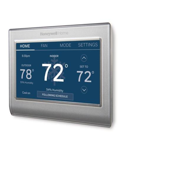 Wi-Fi Smart Color 7-Day Programmable Smart Thermostat with Color-Changing Touchscreen Display