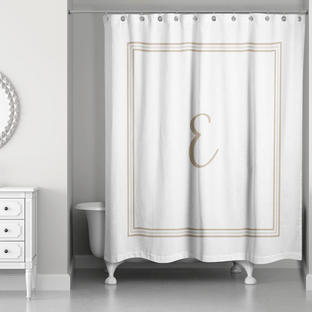 White monogram shower curtain   Bathroom Accessories   Compare ...